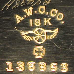 136863 AWCCO. 18K WW MC SNL SO - Waltham # 15,110,001 (1906) 12s Jerry Treiman.png